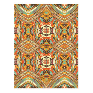 Retro Vintage Tribal Art. Abstract Nativ American Postcard