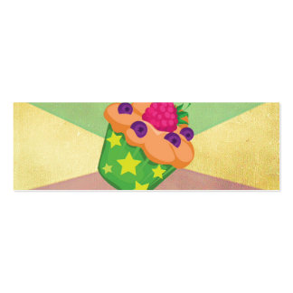 Retro Vintage Tricolor Background. Cake Pattern Double-Sided Mini Business Cards (Pack Of 20)
