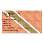 Retro Vintage Trinidad and Tobago Flag Double-Sided Standard Business Cards (Pack Of 100)
