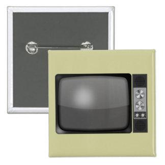 Retro Vintage TV Set 2 Inch Square Button