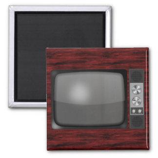 Retro Vintage TV Set 2 Inch Square Magnet