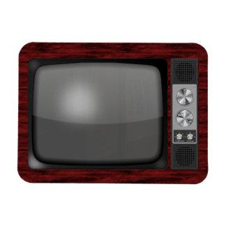 Retro Vintage TV Set Rectangular Photo Magnet