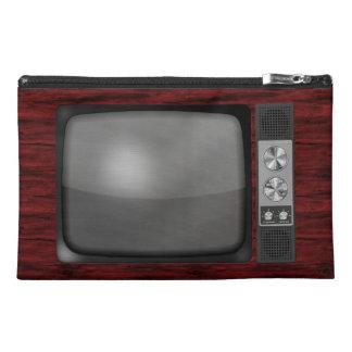 Retro Vintage TV Set Travel Accessories Bag