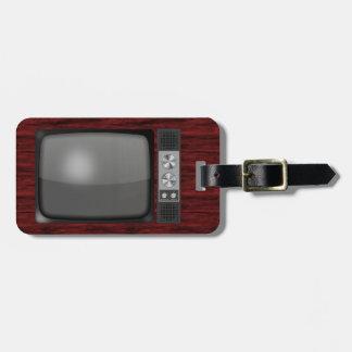 Retro Vintage TV Set Travel Bag Tag