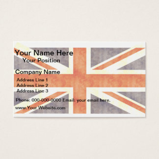 Retro Vintage United Kingdom Flag Business Card