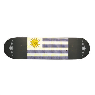 Retro Vintage Uruguay Flag Custom Skate Board