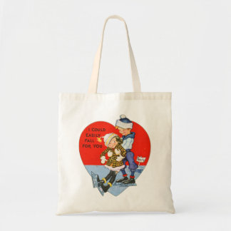 Retro Vintage Valentine I Could Fall For You Canvas Bags