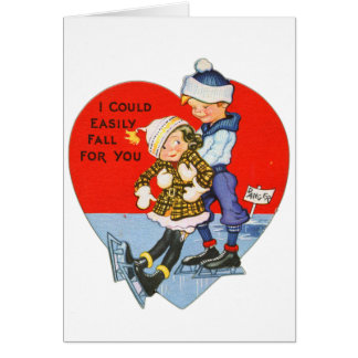 Retro Vintage Valentine I Could Fall For You Card