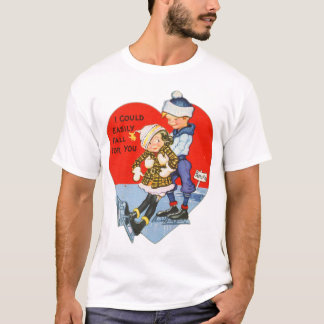 Retro Vintage Valentine I Could Fall For You T-Shirt