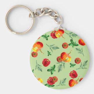 Retro Vintage Vegetables Keychain