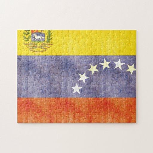Retro Vintage Venezuela Flag Puzzle