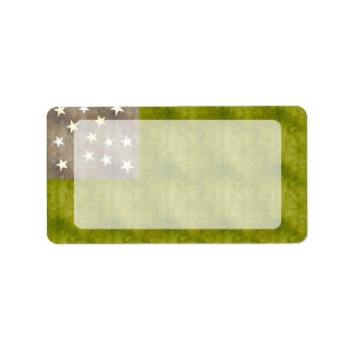 Retro Vintage Vermont Republic Flag Label