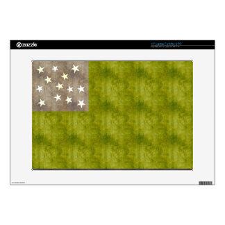 "Retro Vintage Vermont Republic Flag 15"" Laptop Decals"