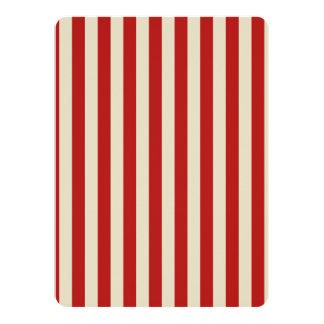 Retro Vintage Vertical PopCorn Classic Stripes Card