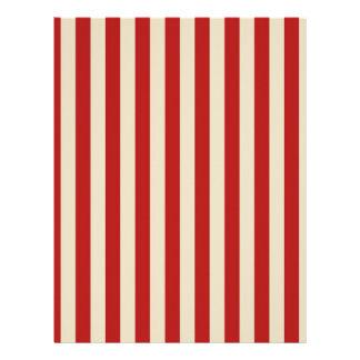 Retro Vintage Vertical PopCorn Classic Stripes Flyer