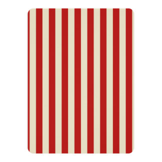 Retro Vintage Vertical PopCorn Classic Stripes Custom Announcements