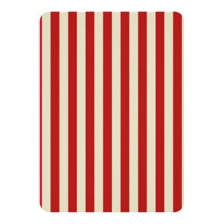 Retro Vintage Vertical PopCorn Classic Stripes Invitations