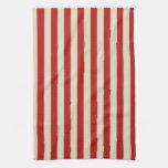 Retro Vintage Vertical PopCorn Classic Stripes Hand Towels