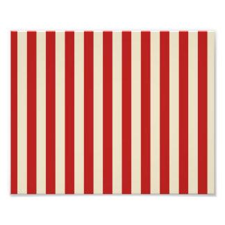 Retro Vintage Vertical PopCorn Classic Stripes Photographic Print