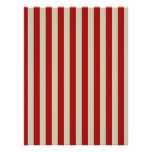 Retro Vintage Vertical PopCorn Classic Stripes Poster