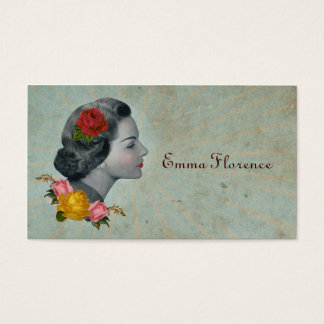 Retro Vintage Victorian Calling Card Business Card