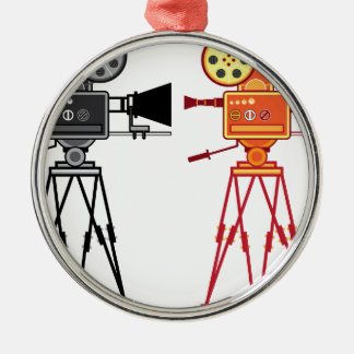 Retro Vintage Video Projector Camera Movie Vector Metal Ornament