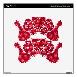 Retro Vintage Violets Fire Red Decal For PS3 Controller