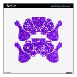Retro Vintage Violets Purple Skin For PS3 Controller