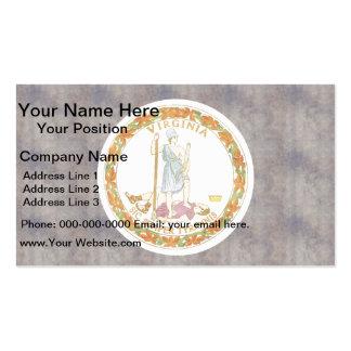 Retro Vintage Virginia Flag Business Card Templates