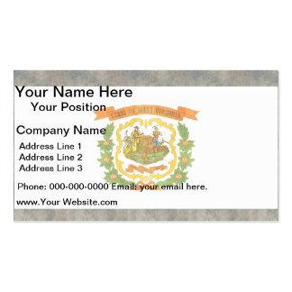Retro Vintage West Virginia Flag Business Card Templates