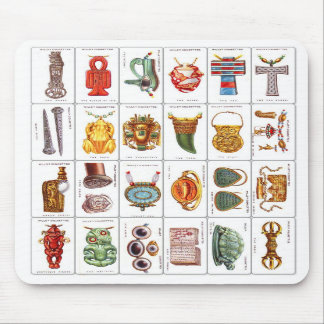 Retro Vintage Wills's Cigarette Cards Lucky Charms Mouse Pads
