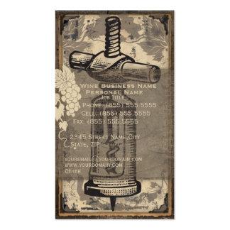 Retro Vintage Wine Business Business Card