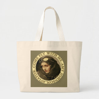Retro Vintage Woman Aviator Tote Bag