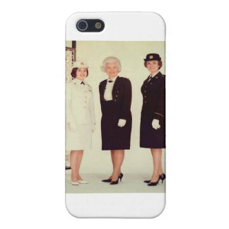Retro Vintage Women in Uniform Beautiful Strong Cover For iPhone SE/5/5s