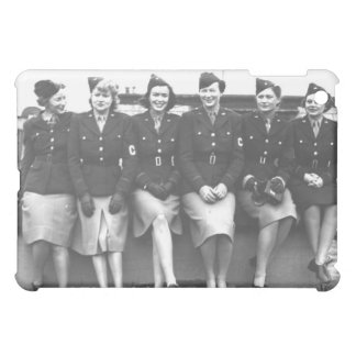 Retro Vintage Women in Uniform Military Women Cover For The iPad Mini