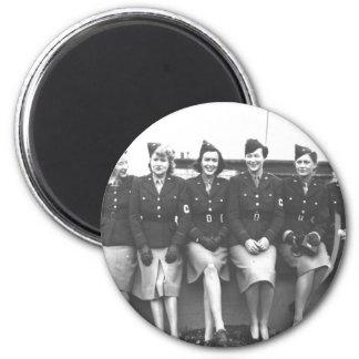 Retro Vintage Women in Uniform Military Women Magnet