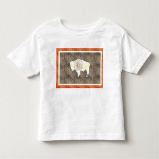 Retro Vintage Wyoming Flag Toddler T-shirt