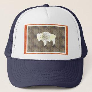 Retro Vintage Wyoming Flag Trucker Hat
