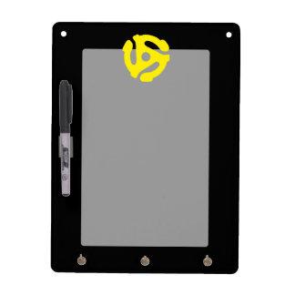 Retro Vintage Yellow 45 spacer DJ Dry Erase Board