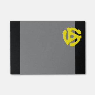 Retro Vintage Yellow 45 spacer DJ Post-it® Notes