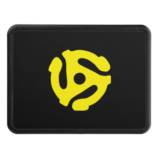 Retro Vintage Yellow 45 spacer DJ Trailer Hitch Cover
