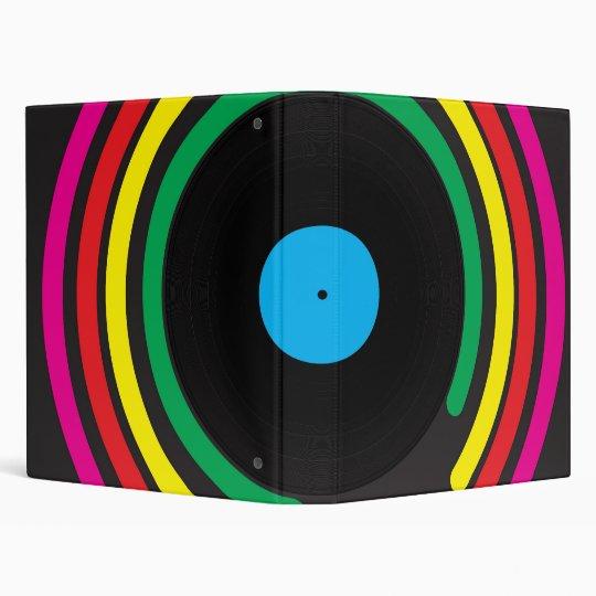 Retro Vinyl 3 Ring Binder