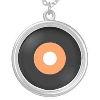 retro vinyl 45 record necklace