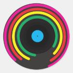Retro Vinyl Classic Round Sticker