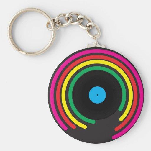 Retro Vinyl Keychain