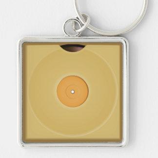 Retro Vinyl Music Records Keychain