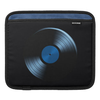 Retro Vinyl Record Album in Blue Sleeves For iPads