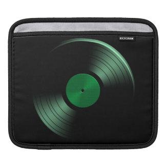 Retro Vinyl Record Album in Green Sleeves For iPads