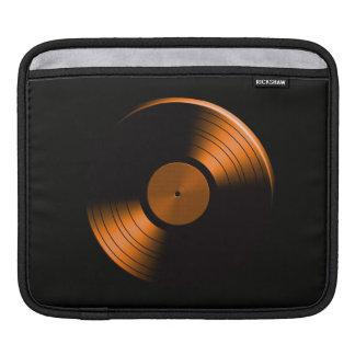 Retro Vinyl Record Album in Orange iPad Sleeves