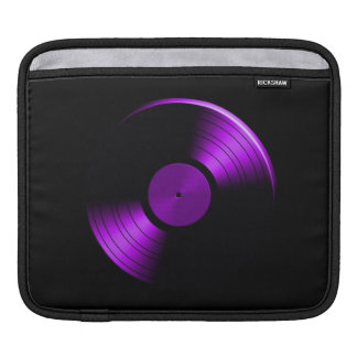Retro Vinyl Record Album in Purple Sleeve For iPads